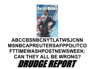 No, they weren't wrong. Matt Drudge.